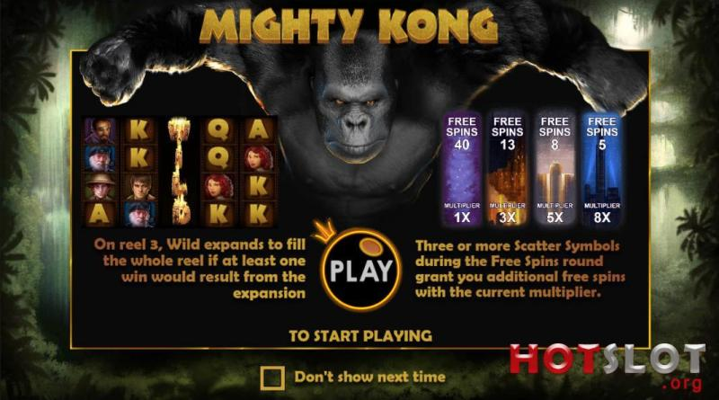 Mighty Kong Screen