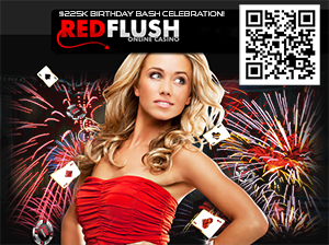 Red Flush Online Casino's Bday Bash Worth $225K for Players