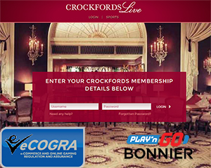 eCogra Accredited by SGC, Playn'Go Meets Bonnier & Crockford's Casino