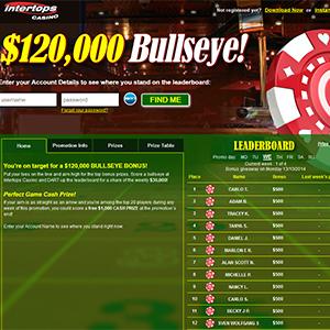 Dart Over to Take Aim at Intertops $120K Bullseye Bonus