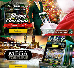 £350 Plus 10 FREE Spins to Win a Mega Fortune of Green