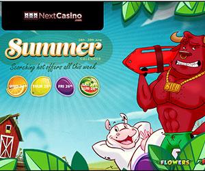 NextCasino's Scorching Summertime Free Spins Bonuses