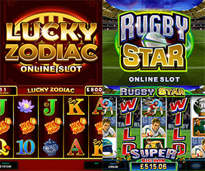 September Slot Releases, Rubgy Star and Lucky Zodiac