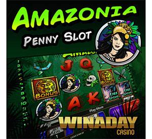WinADay Casino's New 'Amazonia' Penny Slot