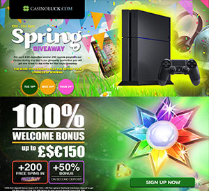 CasinoLuck's Spring Giveaway, Win PS2, iPad and Beats by Dre