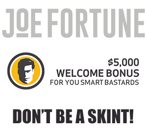 Joe's Promos are Your Fortune Rewards, Get 200% Bonus up to $1,000
