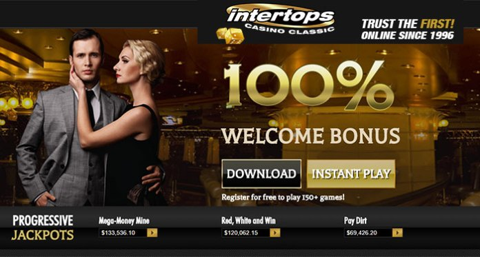 Play Intertops Casino Classic to Get Daily Bonus-Spins on Slots