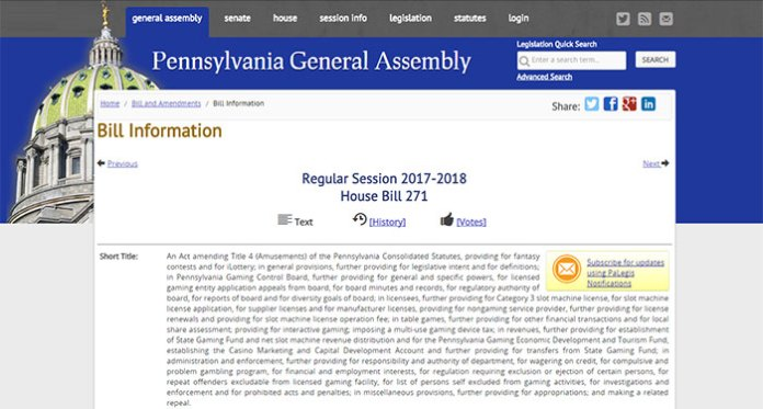 Bill H271 Passed, But Faces High Tax Rate for Gambling Industry