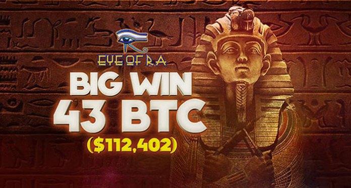 Bitstarz Casino Pays Out $112,402 on Eye of RA Slot