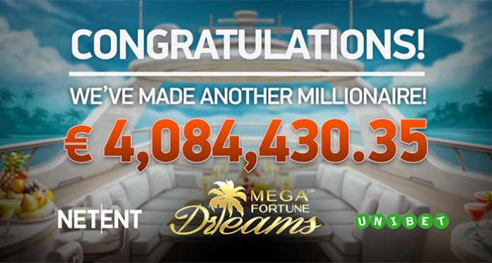 Mega Fortune Dreams Pays Out Another Huge Jackpot of €4,084,430.00