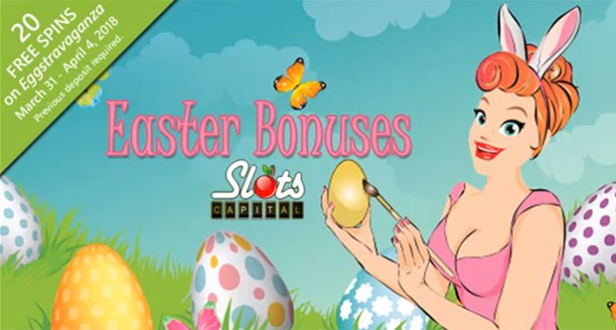 A Special 20 Free Spins Easter Bonus at Slots Capital Casino