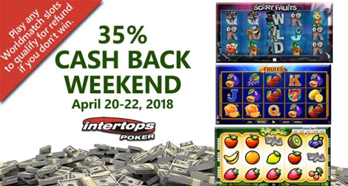 Get a 35% Cashback at Intertops Poker on Worldmatch Slots