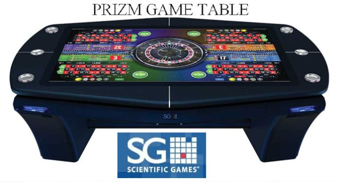 Scientific Games Launch First Ever PRIZM GAMETABLE.