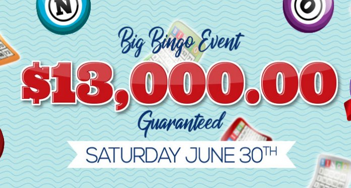 Downtown Bingo's $13,000 Guaranteed Big Bingo Event