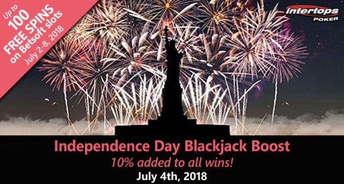 Intertops Poker Blackjack Boost, Free Spins Weekend