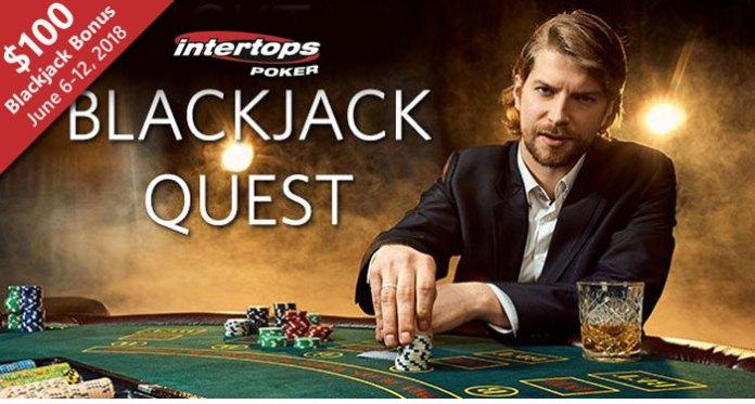 Win a $100 Blackjack Bonus Quest at Intertops Poker