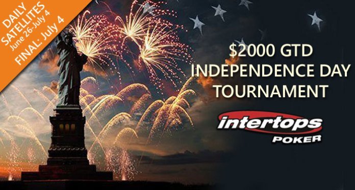 $2000 GTD Independence Day Tournament at Intertops Poker