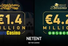 Arabian Nights™ and Mega Fortune Dreams™ Pay Off for NetEnt