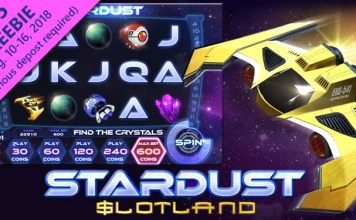 Get Special Bonuses on Slotland Casino's New Stardust Slot