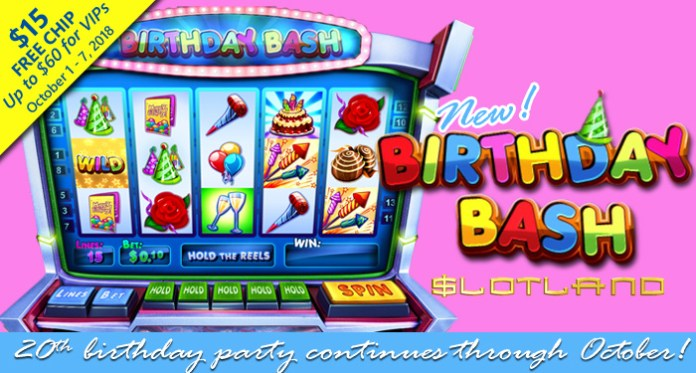 Celebrate Slotland Casinos 20th Anniversary with Special Birthday Bonuses