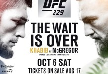 Place All Bets on Biggest Fight of the Year, UFC 229 at Intertops