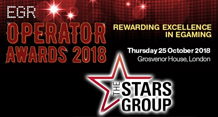 EGR Operator Award for Operator of the Year Goes to Stars Group