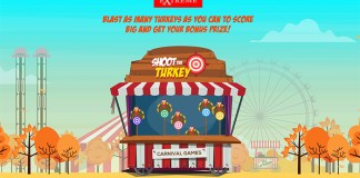 Casino Extreme Turkey Shootout, Daily Bonuses on Select Slots