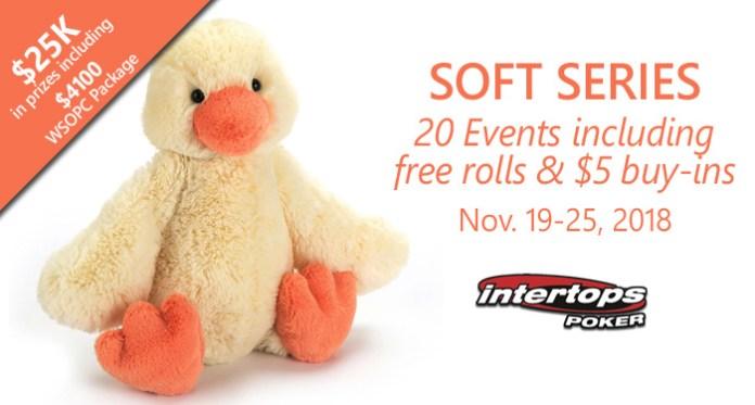 Intertops Poker Soft Series Kicks Off November 19 - 25th 2018