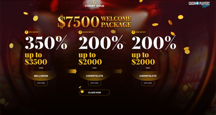 Grab 185% in Slot Bonuses + Free Spins When You Play Cherry Gold Casino