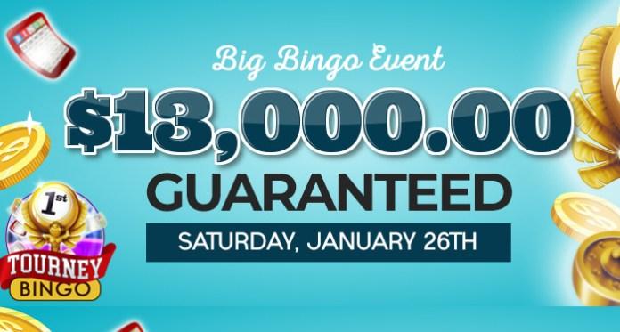 $13,000 Guaranteed Big Bingo Event at Downtown Bingo