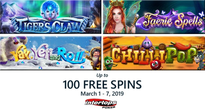 100 Free Spins on Select Betsoft Slots at Intertops Poker