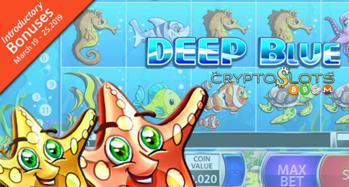 Bet as Little as a Penny on New Deep Blue Slot at Cryptoslots