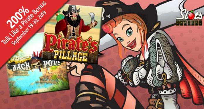 Slots Capital Casino 200% Bonus to Play Pirate Slot/Scratch Game
