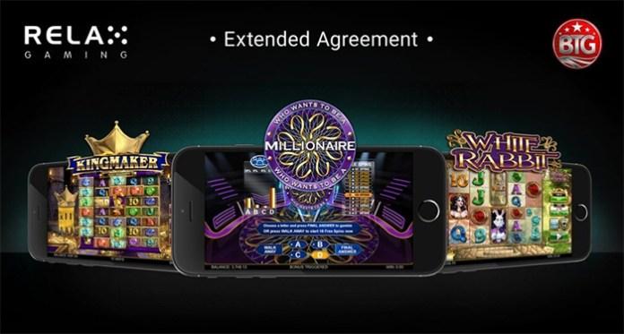 Relax Gaming Strengthen its Big Time Gaming Partnership