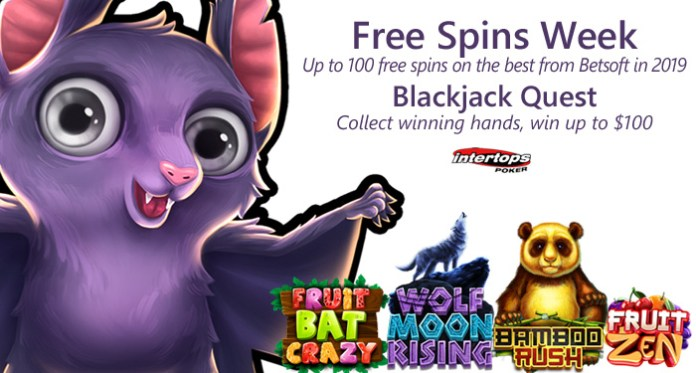 Intertops Poker Players Free Spins on Some of the Best Slots of 2019