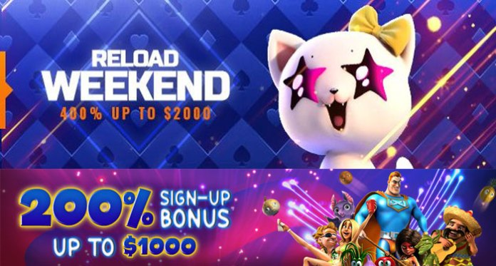 Get A Big Win with a Weekend Reload Bonus of $2K Extra