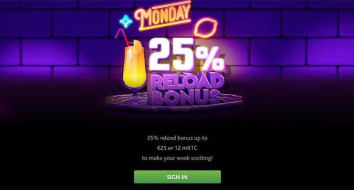 Get an Extra 25% Reload Bonus Offer up to 0.01 BTC or $50 at 7Bit