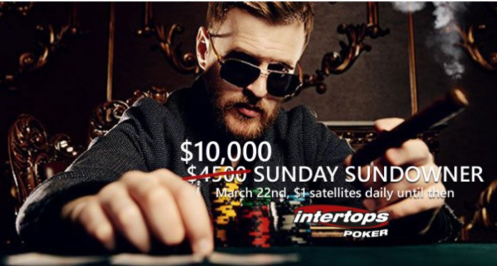Intertops Poker $10,000 Sunday Sundowner Tournament Prize Pool