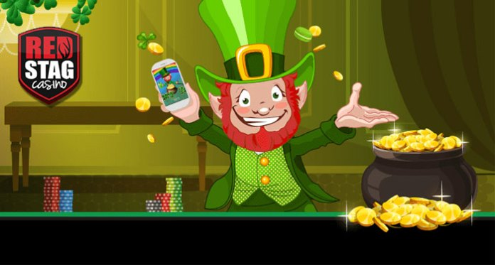 Red Stag Bonuses + Unlimited Spins on this Week's Lucky Irish