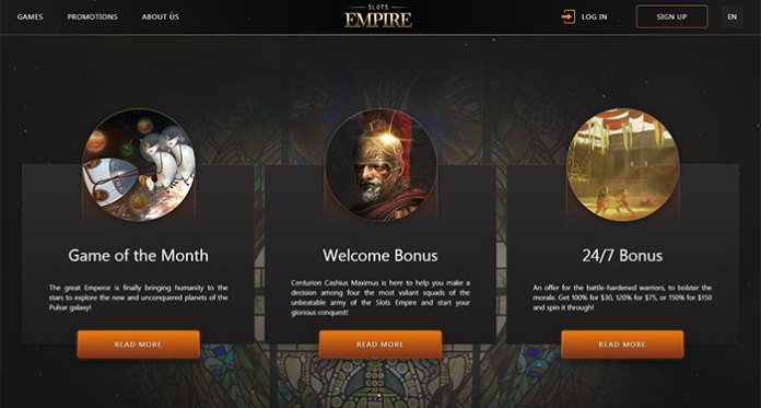 Slots Empire Game of the Month Bonus, Get Up to 20 Free Spins