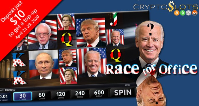 Trump and Putin Make Headlines in Cryptoslots' New Race for Office Slot Game