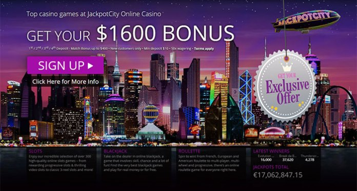 Join Jackpot City and Claim up to $1,600 for All New Players