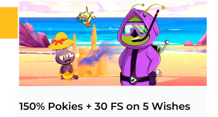 Play Aussie Play Casinos Game of the Month 150% Pokies + 30 FS