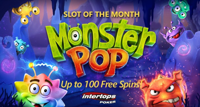Betsoft's New Monster Pop is June's Slot of the Month at Intertops Poker