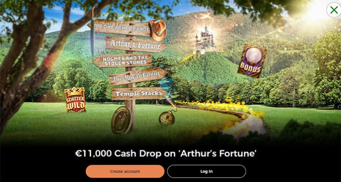 Play in Mr Green Casinos €11,000 Cash Drop on 'Arthur's Fortune'