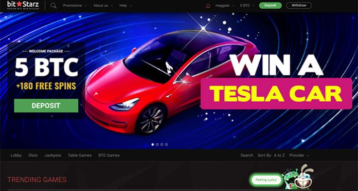 Play Now for A Chance to Win a Tesla Model 3 at Bitstarz Casino