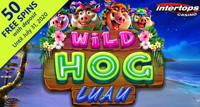 New Wild Hog Luau Slot, Now at Intertops Casino - 50 Free Spins