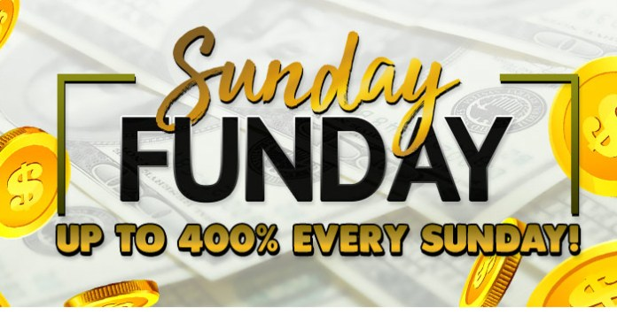 Get up to a 300% Sunday Funday Casino Bonus at Vegas Crest