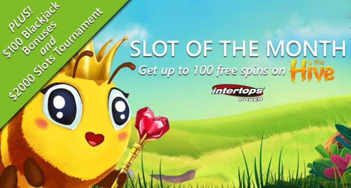Intertops Poker Giving up to 100 Free Spins on Betsoft's New
