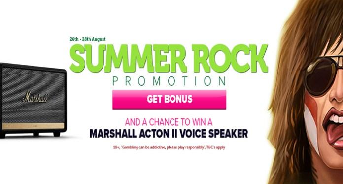 Win a Marshall Wireless Smart Speaker in CasinoLuck's Summer Rock